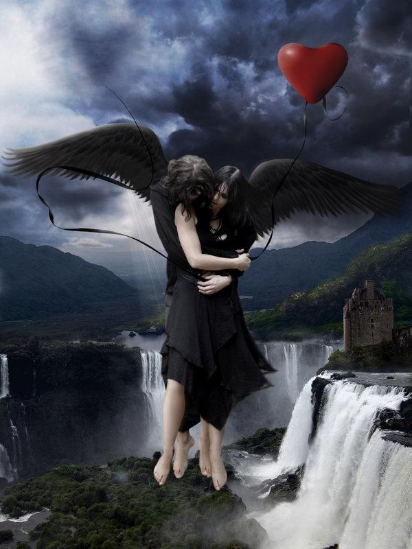 Dark Gothic Angel Love