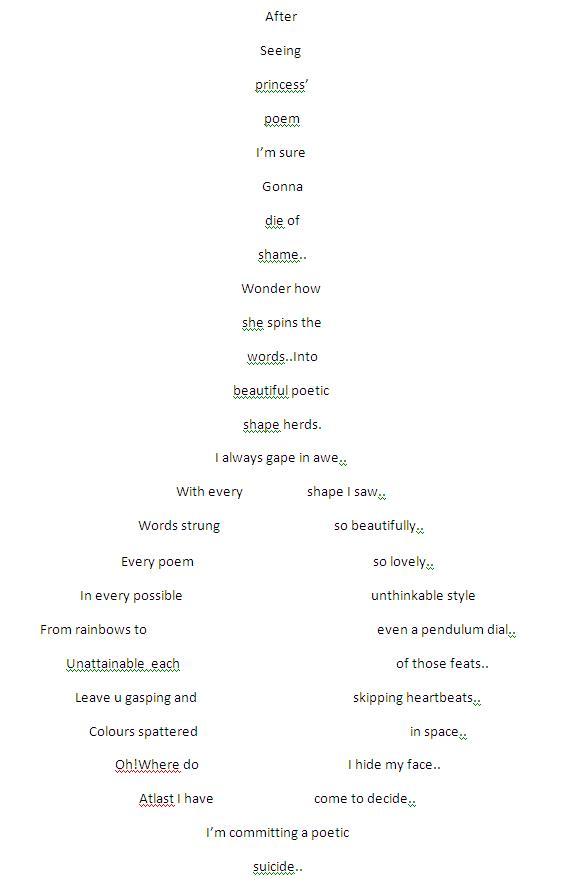 Shape Poetry on Rhyming Word