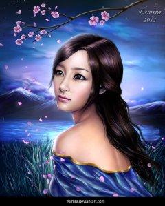 cherry_blossom_night_by_esmira-d3h7bmd